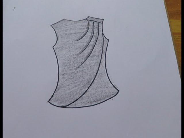 Blusa hombro drapeado