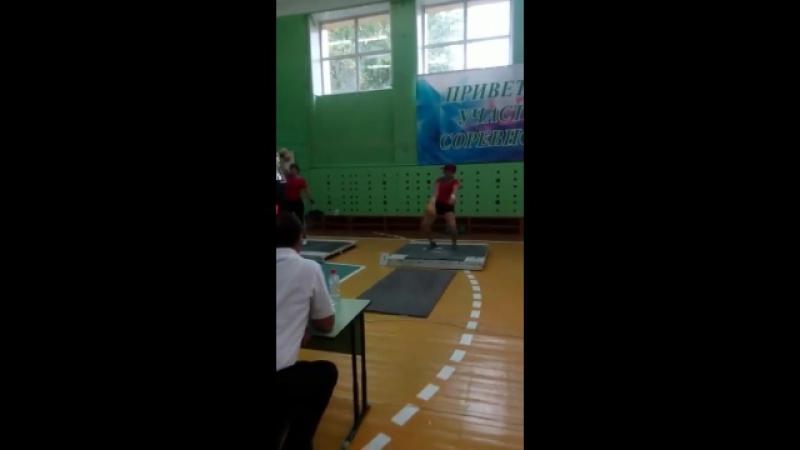 Участие в Сельских Играх в г. Заинске август 2017 г. Гиревой спорт (рывок гири 16 кг) Подняла гирю 54 раза.