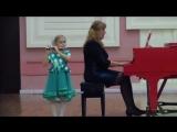 В.А.Моцарт Аллегретто из оперы Волшебная флейта. Исполняет Злата Ефимова, 6 лет, флейта-пикколо