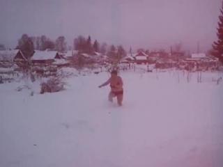 дорогого стоит-после парной да в снег