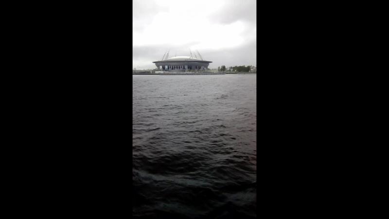 Зенит-Арена с воды.