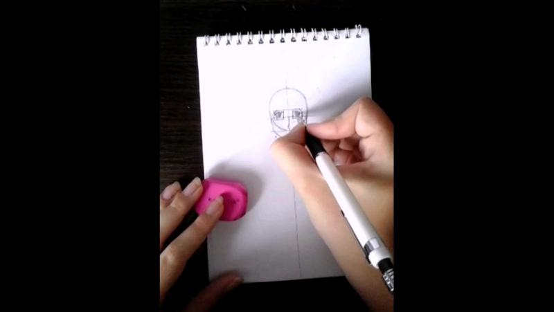Рисуем аниме: №3 Расположение глаз, рот и нос