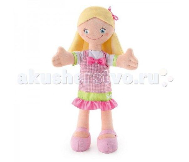 Мягкая кукла в розовом платье с бантом 30 см, Trudi
