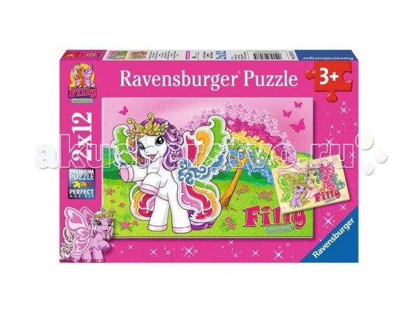 Пазл 2 в 1 филли. принцесса скарлет 2x12 элементов, Ravensburger