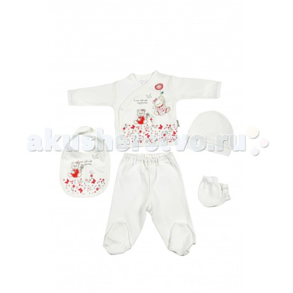 Подарочный набор для новорожденного (5 предметов) bbtf-734, Bebitof Baby