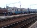 Электропоезд эр2р-7069 сообщением №6446 Красный Лиман-Харьков(Л) прибывает на станцию Изюм