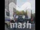 Водитель устроил крупную аварию, уходя от погони в Москве