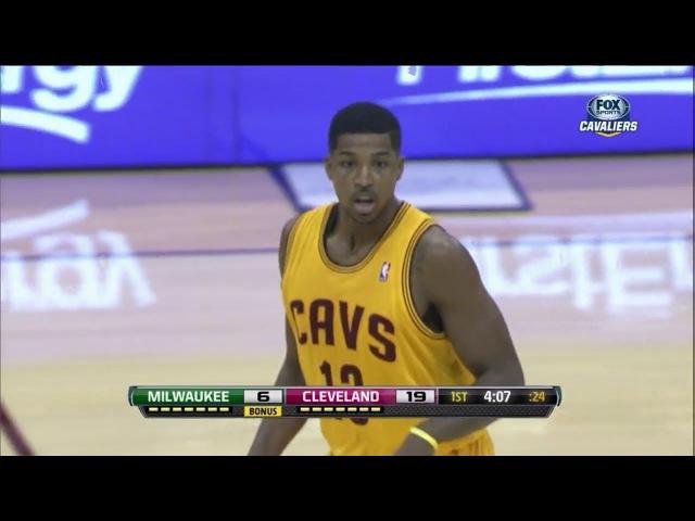 Tristan Thompson 17 Pts Highlights (Sick Alley-Oop) vs Milwaukee Bucks (2013.10.08) (NBA PRESEASON)