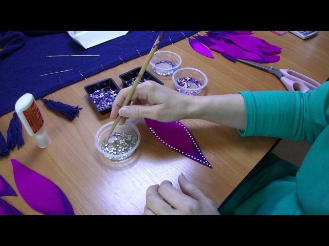 Расклеивание страз клеем Pidilite Fevicryl Fabric Glue