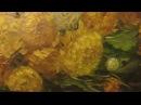 Как написать хризантемы Живопись маслом по тёмному акриловом у грунту How to draw a chrysanthemum