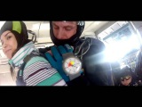 Skidiving perm Первый прыжок с парашютом Екатерины 21.03.2015 Пермь