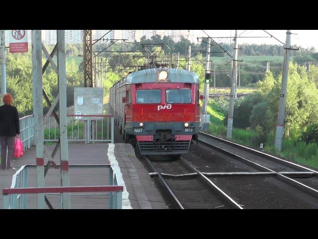 Электропоезд ЭД2Т-0013 платформа Битца
