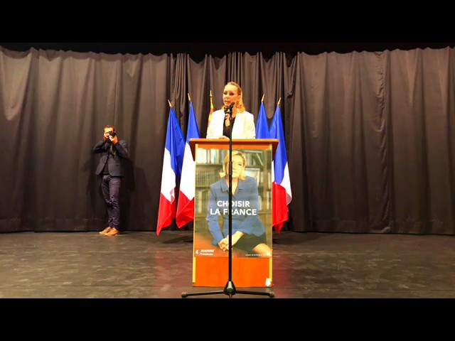 Réunion publique de Marion Maréchal Le Pen à Sorgues