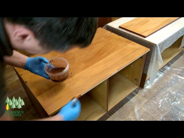 Реставрация мебели своими руками. Набор для нанесения натурального масла Festool HD