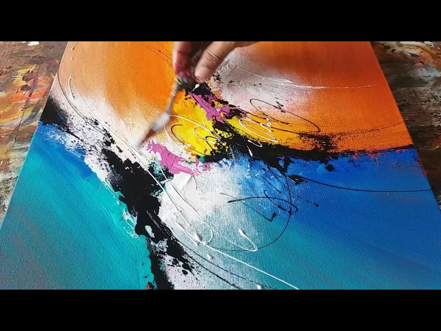 Abstract painting demo... Making... Daily painter... 25/01/2017