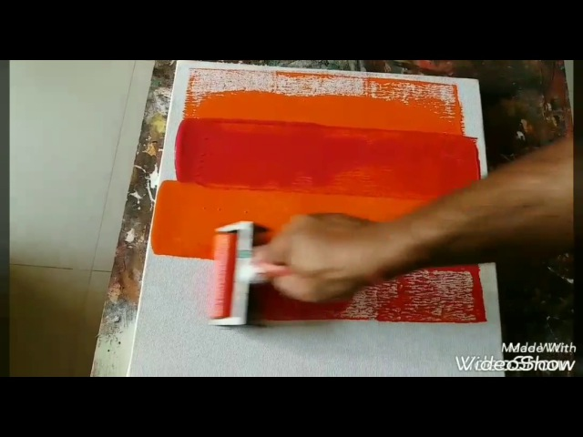 Acrylic Abstract Painting Demo.... daily painter..... 24/01/2017