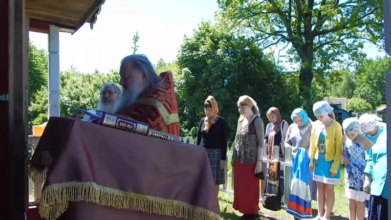 Молебен в часовне великомученицы Параскевы Пятницы