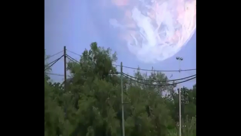 Optical illusion after a rocket launch (taken in Kazakhstan)