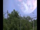 Optical illusion after a rocket launch (taken in Kazakhstan)