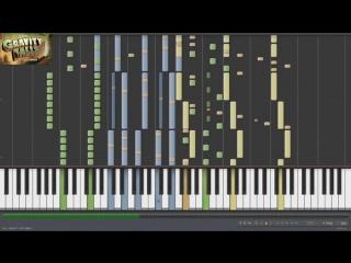 Crazy Piano! GRAVITY FALLS THEME