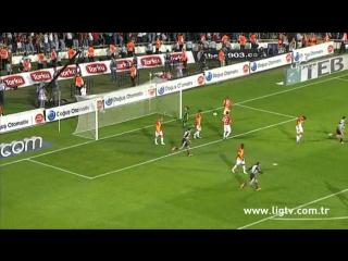 2012 - 2013 Sezonu - Beşiktaş-Galatasaray dakika 8 gol Manuel Fernandes
