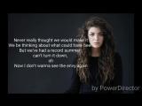Disclosure - Magnets feat Lorde Lyrics vevo