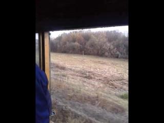 Кабина паровоза Су251-86, видео