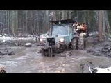 Трактор застрял в грязи Уникальная подборка Tractors Stuck in Mud 2017 NEW