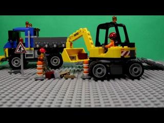 LEGO CITY - SWEEPER & EXCAVATOR, 60152 / ЛЕГО СИТИ - СТРОИТЕЛЬНАЯ ТЕХНИКА.