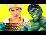 Frozen Elsa Spiderman KIDNAPPED ELSA! w/ Anna Hulk Maleficent Joker Plucky Superheroes in Real