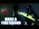 Fire Sword Colored Flame How to Make DIY Ax Spinning Cosplay Flail Weapons Warrior Assassin Do I