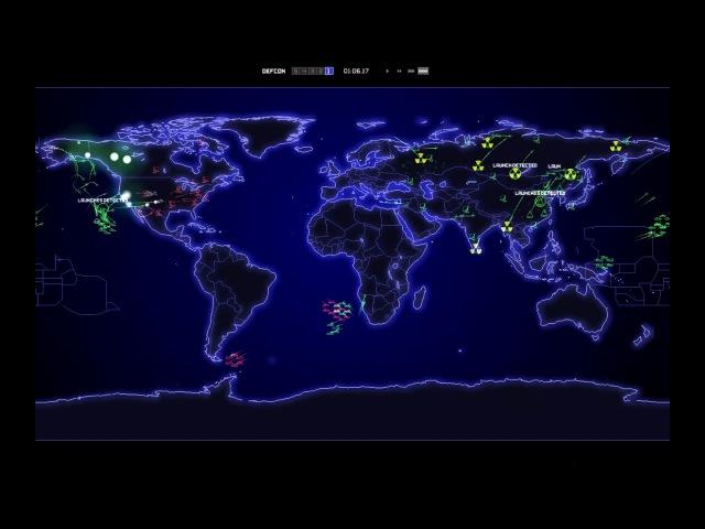 Компьютерное Моделирование сценария 3 Мировой Войны (DEFCON)