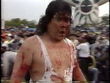 Atsushi Onita vs. Mr. Pogo (Exploding Barbed Wire Double Hell Death Match) 050691