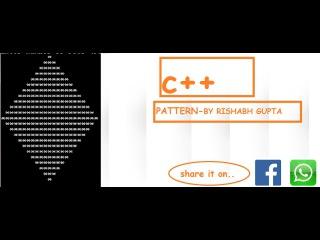 C Easy Dynamic/Static Pattern Of Right Traingle By Rishabh Gupta