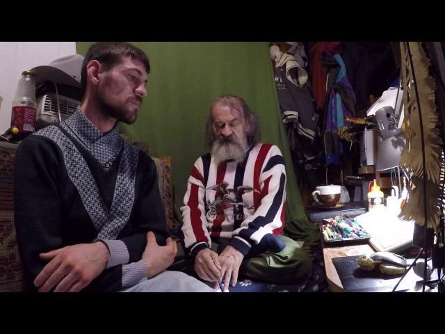 Купцов А. Г. на интервью с колхозником.