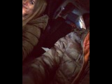 Александра Гозиас и Константин Иванов едут в машине и дурачатся