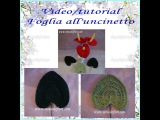 Foglia all'uncinetto - Leaf crocheted