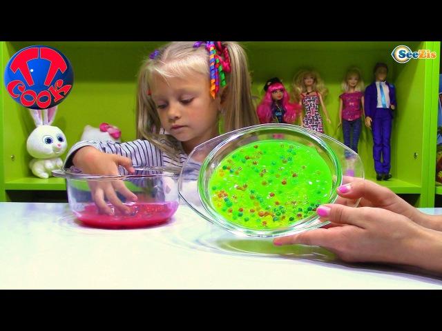 ORBEEZ Выращиваем Шарики Орбиз в Слизи и Лизунах! Играем c шариками! Видео для детей Balls Orbeez
