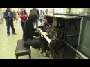 Playing Toxicity on Elton John's piano at St. Pancras Station - London