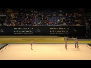 Rhytmic gymnastic israel junior team 10 clubs 2017 Derungina