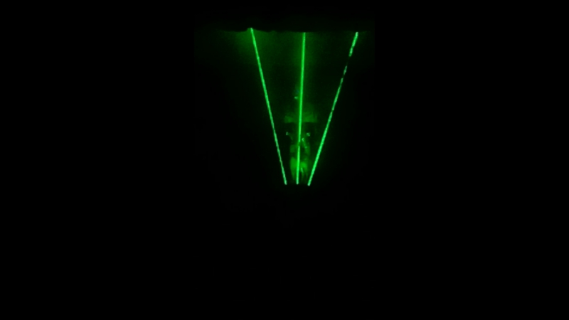 Лазерное шоу в п. Пинчуга