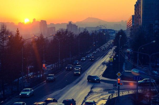 #ТипичныйКрасноярск_фото 10 минут до захода солнца. Коммунальный.