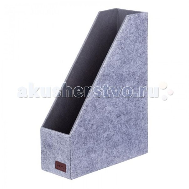 Вертикальный накопитель felt для бумаг формата а4 серый, Lejoys
