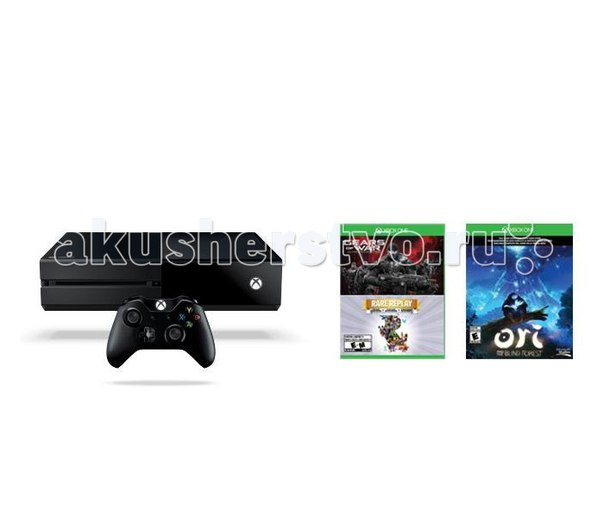 Игровая приставка xbox one 1 tb+gears of war ultimate/rare replay+код ori and the blind forrest, Microsoft