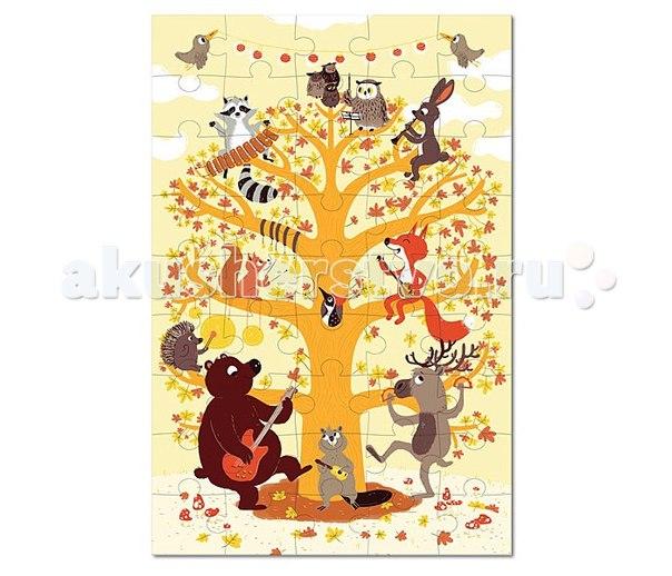 Игрушки из картона: пазл лесные животные, Krooom