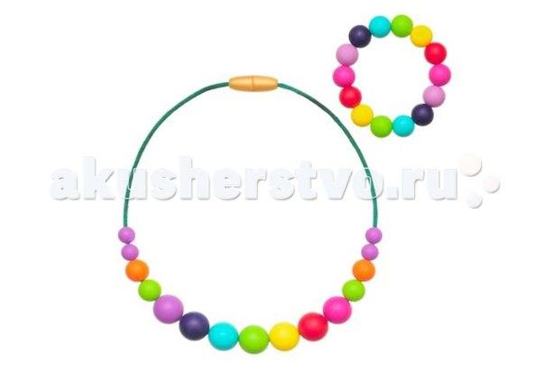 Комплект детский радуга (бусы и браслет), Ti Amo Мama