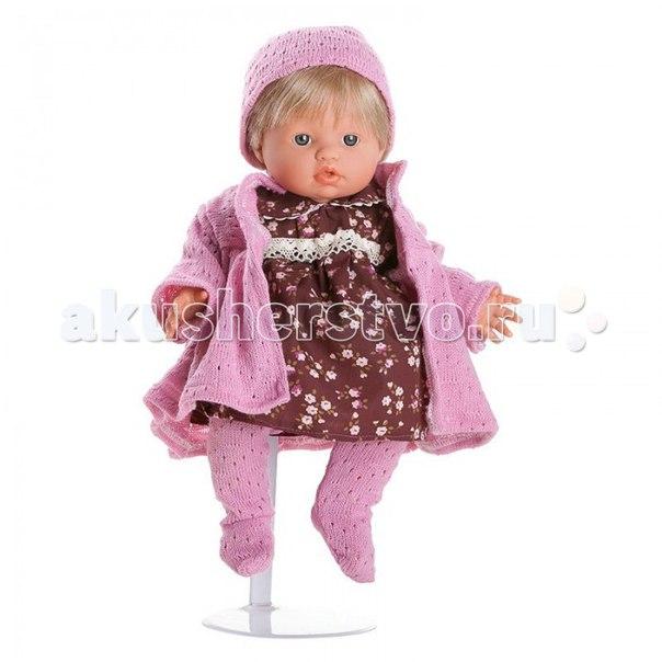 Кукла-пупс мончи в розовом пальто 34 см, Dnenes/Carmen Gonzalez