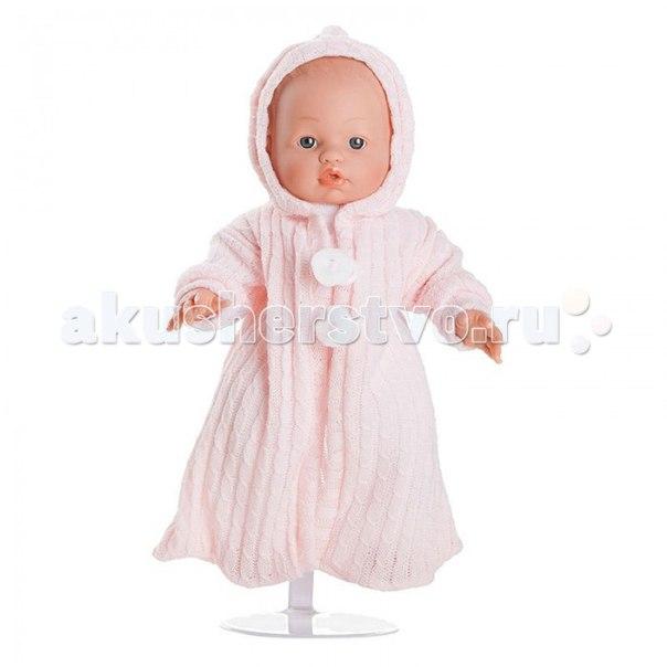 Кукла-пупс мончи в розовом комбинезоне с капюшоном 34 см, Dnenes/Carmen Gonzalez