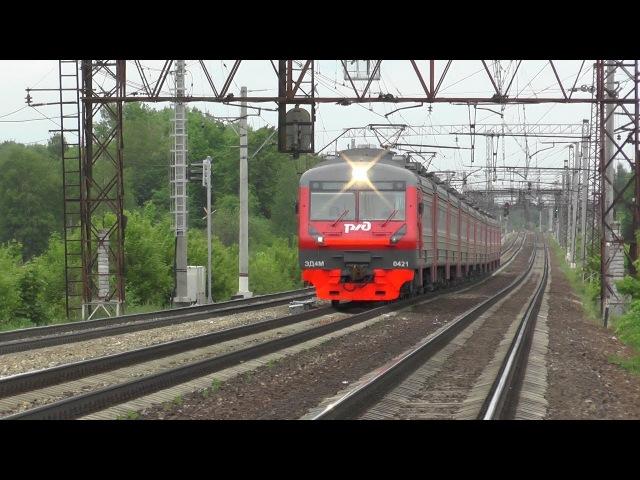 Электропоезд ЭД4М 0421 перегон Михнево Барыбино