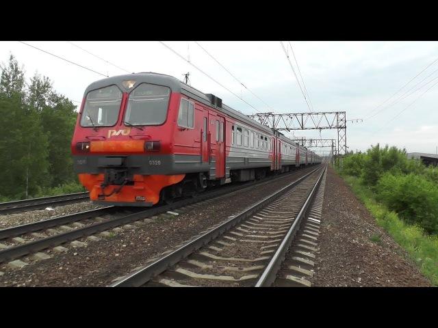 Электропоезд ЭД4М 0320 перегон Михнево Барыбино